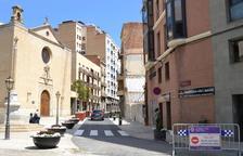 La plaça de la Sang s'obre al trànsit de manera provisional