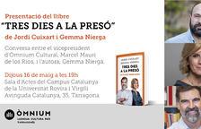 Presentació de 'Tres dies a la presó' de Jordi Cuixart i Gemma Nierga a Tarragona
