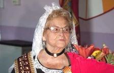 Mor Teresina Vicens, qui va ser Tecleta d'Honor l'any 2002