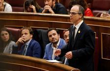 Jordi Turull promete el cargo en el Congreso de los Diputados.