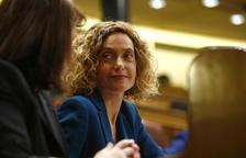 La diputada del PSOE Meritxell Batet, durante la votación en el Congreso de los Diputados de la presidencia de la cámara.