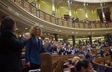 Meritxell Batet en el Congreso de los Diputados, una vez elegida presidenta de la cámara.