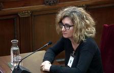 La cap del Servei de Programació i Dinamització d'Activitats de la Generalitat, Rosa Maria Sans, declarant al Suprem.