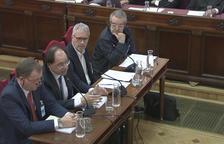 Quatre pèrits, Carlos Javier Irisarri, José Manuel Cámara, Jordi Duatis i Joan Güell, compareixent al Tribunal Suprem per parlar sobre els locals utilitzats l'1-O.