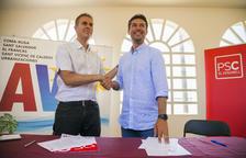Kenneth Martínez (PSC) oficializa el pacto con la AVP en el Vendrell