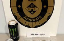 Detingut a Amposta per vendre marihuana que ocultava a l'interior d'una llauna de refresc