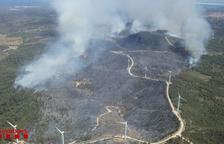 38 persones de 22 masies desallotjades per l'incendi del Perelló