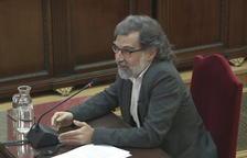 Plano general de Jordi Cuixart durante el último turno de palabra en el Tribunal Supremo.