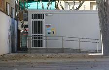 Una imatge d'arxiu del barracó al pati del centre.