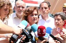 Calvo destaca la resposta «ràpida i lleial» enviant l'exèrcit per a l'incendi de la Ribera d'Ebre