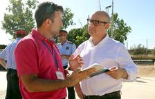 El president de l'Audiència de Tarragona es desplaça al centre de comandament de Vinebre