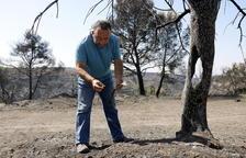 Un pagès de Bovera: «Està tot cremat. A casa ho hem rebut molt malament»