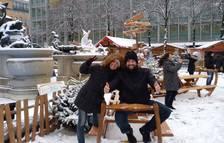 Sonia Garcia con su pareja en Mannheim.
