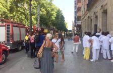 Quema un cuadro de contadores en la Rambla Nova de Tarragona