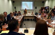 Compromís de coordinació entre les administracions per fer front als danys de l'incendi de la Ribera d'Ebre