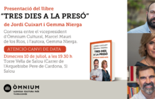 'Tres dies a la presó', de Jordi Cuixart y Gemma Nierga, se presenta en Salou
