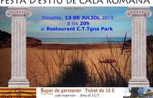 Els veïns de Cala Romana organitzen un sopar de germanor en el marc de la Festa d'Estiu