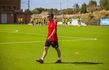 Xavi Bartolo ha dirigido esta mañana su primer entrenamiento con el Nàstic.