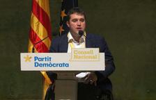 El president del PDeCAT, David Bonvehí, durant el Consell Nacional del partit a l'auditori AXA de Barcelona