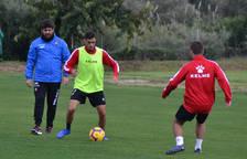 Abel Mourelo en un entrenamiento con el CF Reus la temporada pasada.
