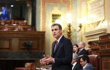El líder del PSOE, Pedro Sánchez, este lunes 22 de julio en la sesión de investidura en el Congreso de los Diputados.