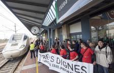 Trens Dignes convoca una protesta para exigir más trenes de alta velocidad en el Ebro