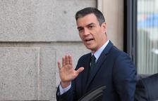 El candidato a la reelección como presidente del gobierno español, Pedro Sánchez, entrando en el Congreso de los Diputados, el 25 de julio.