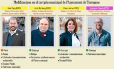 Xavi Puig es desprèn de cinc competències a Tarragona i les passa a Varas, Pinedo i Fortuny