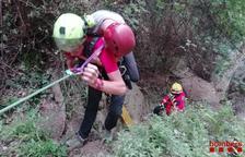 Rescaten un escalador ferit a la paret del Grèvol de Mont-ral