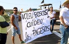 Los campesinos afectados por el fuego de la Ribera d'Ebre aumentan las protestas para reclamar ayudas a fondo perdido