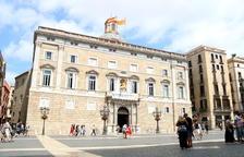 Plano general de la fachada del Palau de la Generalitat.