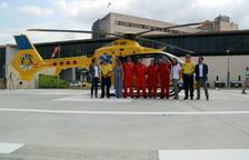 L'helicòpter del SEM ja pot traslladar pacients crítics de nit des de l'Hospital de Tortosa