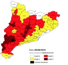 Agricultura alerta de l'alt risc d'incendi al Camp de Tarragona i l'Ebre a partir de demà