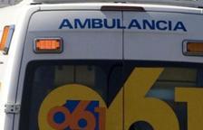 Imatge d'arxiu d'una ambulància.