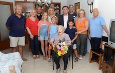 La Pobla de Mafumet felicita a Ana Esmeralda Durán por su 101º aniversario