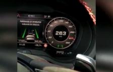Conduce a 263 km/h por la C-33 y se graba en vídeo para colgarlo a las redes sociales