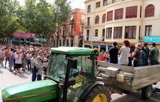 Imagen de la asamblea hecha en la plaza del Ayuntamiento de Vilafranca el pasado 16 de agosto.
