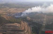 Controlat l'incendi d'Horta de Sant Joan