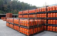Bombonas de butano en una empresa distribuidora, en una imagen de archivo de 2017.