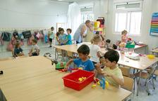 Imatge d'arxiu d'una de les aules de l'Escola de l'Arrabassada de Tarragona en l'inici del curs escolar 2018-2019.