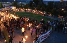 Marcha de antorchas por Tarragona por la libertad de los presos políticos