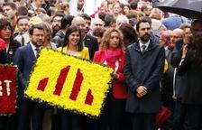 Dos identificados por entorpecer la ofrenda floral del Gobierno a Rafael Casanova con el himno de España