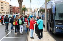Salen de Amposta cinco autocares hacia la manifestación de la Diada de Barcelona