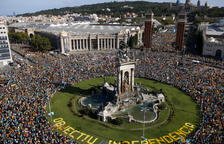 Unas 600.000 personas participan en la manifestación de la Diada, según la Guardia Urbana