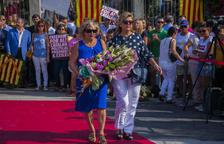 Se mantienen los actos en Tarragona en motivo de la Diada del Onze de Setembre, a pesar de la lluvia