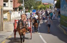 Más de cien caballos y veinte carros en los Tres Tombs de la Canonja