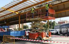 La reforma de l'estació de bus de Reus aborda les canalitzacions d'aigües