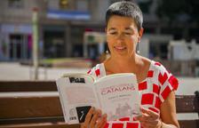 La periodista y escritora, este miércoles en la plaza Verdaguer de Tarragona.