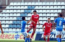 Óscar Sanz, primer 'millenial' a debutar amb el primer equip del Nàstic