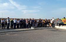 ERC recuerda a Carme Forcadell con un centenar de personas en Mas d'Enric